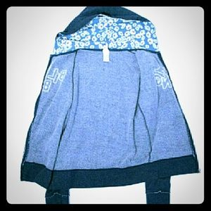 Blue Billabong daisies zip up jacket